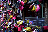 Locks of love at Juliette's house, Verona